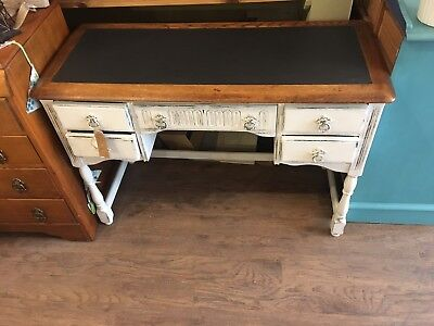 Vintage Leather Topped Painted Desk