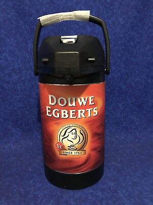 DOUWE EGBERTS Thermal Pro Air Pot Dispenser Coffee Tea Pump Curtis Thermos 2.5L