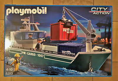 Playmobil Set 5253 Containerschiff in Originalverpackung