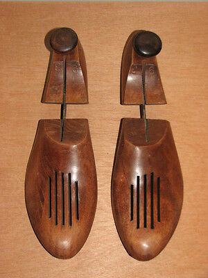 """VINTAGE WOODEN SHOE FORMS VENTED SIZE 9  11 1/2"""" long 3 1/2"""" wide"""