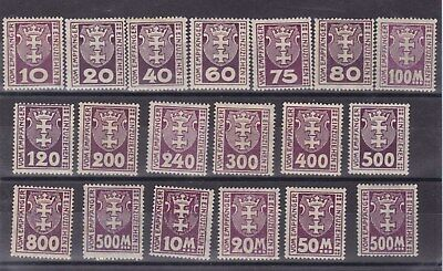 danzig 1921/2 p.due stamps,set         l378