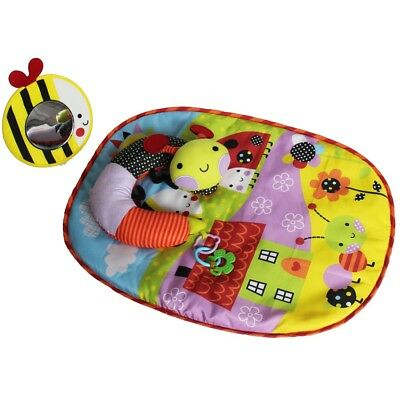 Red Kite Baby Mat Play Tummy Time Pillow Unisex Garden Gang