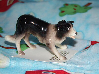 Hagen Renaker Dog Border Collie  Figurine Miniature 03338 FREE SHIPPING