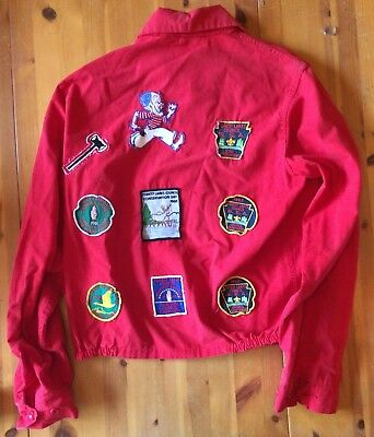 Sir Jac Jacket Red Boy Scouts BSA Scoutmaster Patches Forest Lakes Vintage 1960s