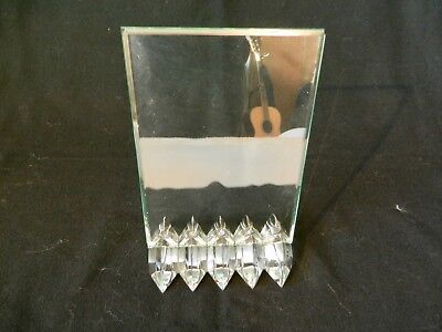 French Art Deco Crystal Baccarat Frame, 1940's - Signed,  Jacques Adnet