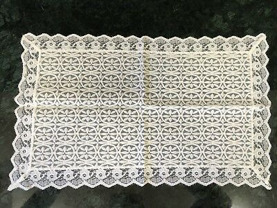 "Vintage Lace Doily- Off White - 18"" By 11"""