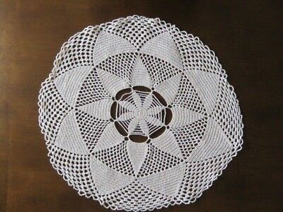"Vintage Crochet Doily - Cream - 18"" In Diameter"