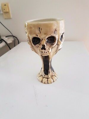 Screaming Skull Goblet Chalice L 10.6 x W 7.7 x H 5 inches