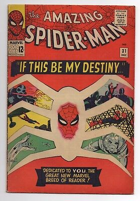 The AMAZING SPIDER-MAN #31 1st Gwen Stacy Steve Ditko Missing 3 Pages