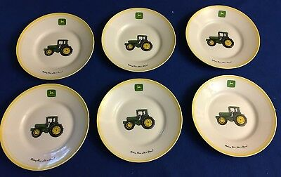 "6 John Deere Nothing Runs Like A Deer 9"" Plate China Gibson New Old Inventory"