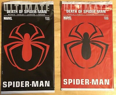 Ultimate Spider-Man #160, original and red polybagged variant, set of 2