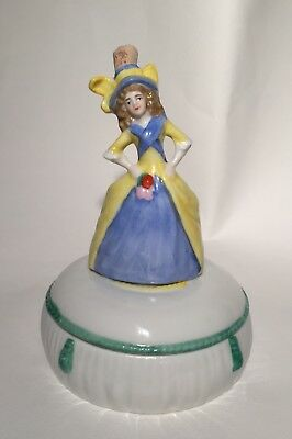 Antique German Lady Powder/box/pot/jar*perfume/scent Bottle*germany~Sitzendorf