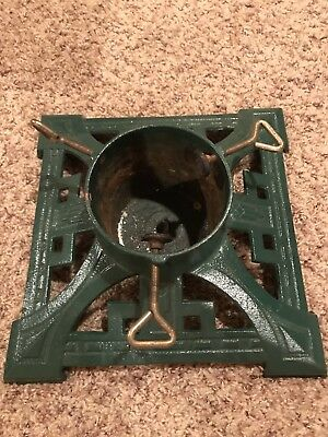 Dept 56 Cast Iron Christmas Tree Stand Green