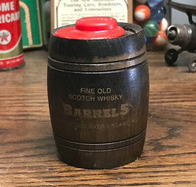 "Vintage Small Wood Barrel Fine Old Scotch Whisky Empty 2 7/8"" Tall"