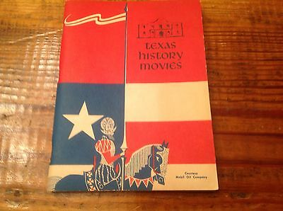 """Vintage Mobil """"Texas History Movies"""" Courtesy Book 1956"""