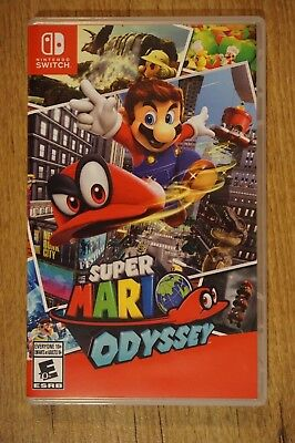Super Mario Odyssey (Nintendo Switch, 2017) DISPLAY CASE ONLY no game no manual