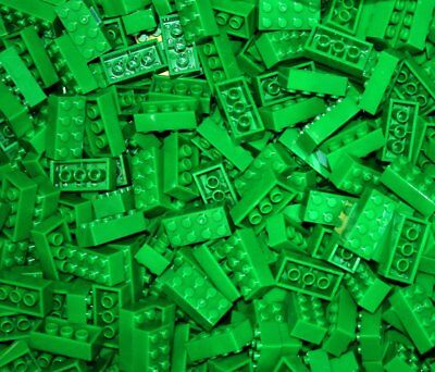 170 PCS 2X4 Green Brand New Building Blocks Bricks Compatible with lego