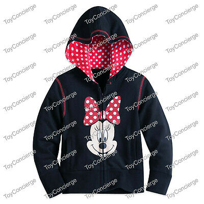 DISNEY Store HOODIE for GIRLS MINNIE MOUSE Hooded Sweatshirt CHOOSE Size NWT