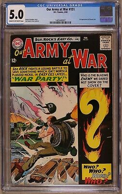 Our Army At War #151 CGC 5.0 DC 1965 1st Ememy Ace! Sgt Rock from #83 G11 147 cm