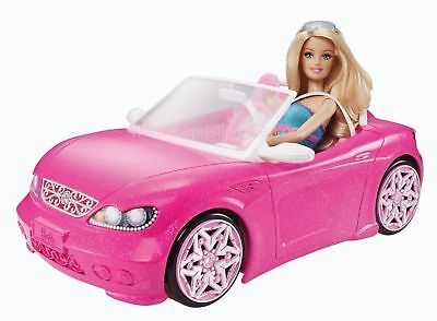 Barbie Glam Convertible Driving Car Vehicle Birthday Christmas Gift BNE STOCK