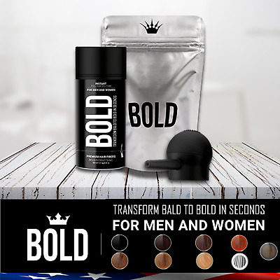 BOLD Dark Brown Hair Loss Building Fibers Black Medium Light Brown