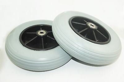 "2 x 8"" Power Wheelchair Front Rear Caster Tires for Pride Jazzy / Jet Electric"