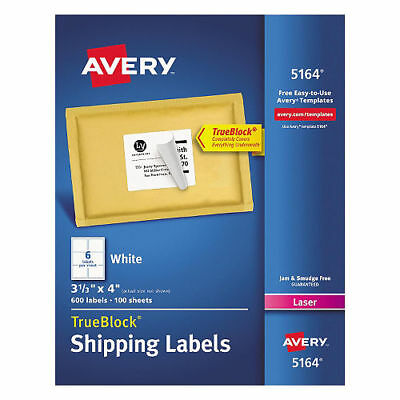 new avery 5524 white weatherproof laser shipping labels 3 1 3 x 4
