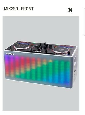 Gemini Mix2Go 2 Channel Portable Led Pa Dj System -Ultimate Party System