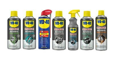 WD40 Specialist Motorcycle Cleaning Kit - Chain Lube-Polish-Wash-Silicone-Brake