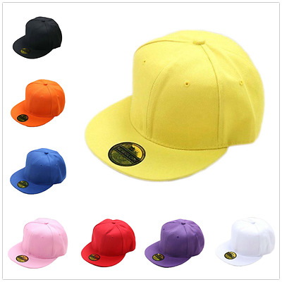 Snapback Baseball Plain Cap Funky Hip Hop SP Retro Classic Vintage Flat Hat LOT