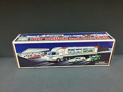 NEW 1997 HESS Toy Truck And 2 Racers