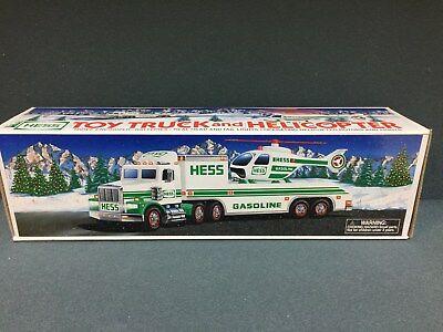 NEW 1995 HESS Toy Truck and Helicopter FREE SHIPPING