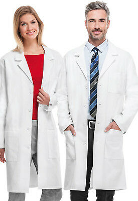 """White Cherokee Unisex 40"""" Lab Coat 1446AB WHTD Antimicrobial Fluid Barrier"""