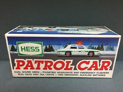 NEW 1993 HESS Toy Truck Patrol Car FREE SHIPPING