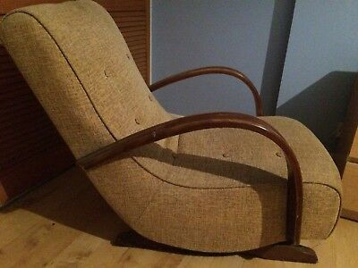 Art Deco Style Rocking Chair Low Rocker Classic Design And Vintage Look And Feel