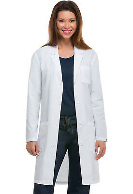 """White Dickies EDS Unisex 40"""" Lab Coat 83403AB WHWZ Antimicrobial Fluid Barrier"""