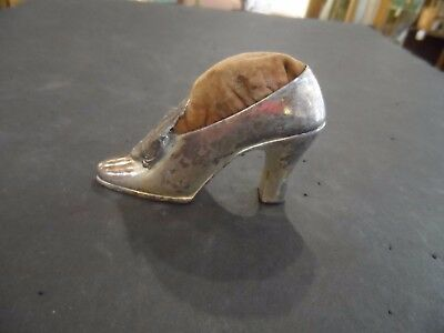 Antique Jennings Brothers Souvenir Pin Cushion Shoe Statue Of Liberty