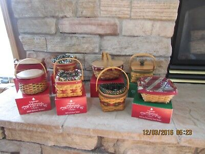 Longaberger Tree Trimming Basket Collections Combos Set of 8