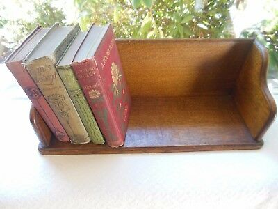 Antique Solid Oak Mission Arts And Crafts Style Book Rack Shelf Nice Finish