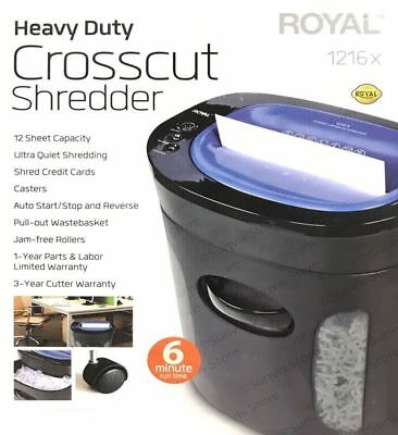ROYAL 12 Sheet Heavy Duty Crosscut Shredder 1216MX Brand New
