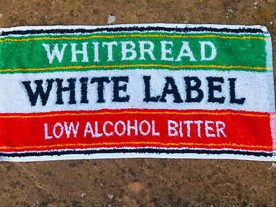 Whitbread White Label Bitter  Beer towel from 1970s