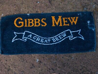 Gibbs Mew  BREWERY  Wiltshire-  BITTER Beer towel from 1970s