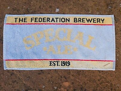The Federation Brewery Special Ale  Beer towel from 1970s