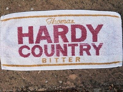 Hardy Country  Bitter from Eldridge, Pope.Dorset  Beer towel from 1970s