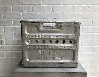 Antique Zinc Milk Crate, Owned by Joanna Gaines, Waco, Texas - Vintage