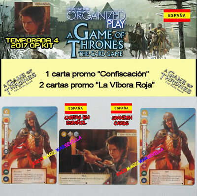 GAME OF THRONES TCG 2017 TEMPORADA 4 KIT ESPAÑOL-Confiscación + 2 La Víbora Roja
