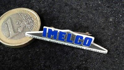 IMELCO Electrical Corporation Brosche Brooch kein Pin Badge alt rare
