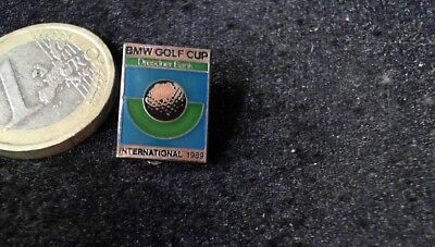 BMW Golf Cup Dresdner Bank International 1989 Brosche Brooch Badge alt rare
