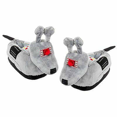 Doctor Who Adult K-9 Dog Slippers Grey, S/M