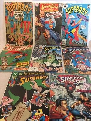 DC Comics Silver Age To Modern Superboy Lot Of 8 Comics - Rare Whitman Variant